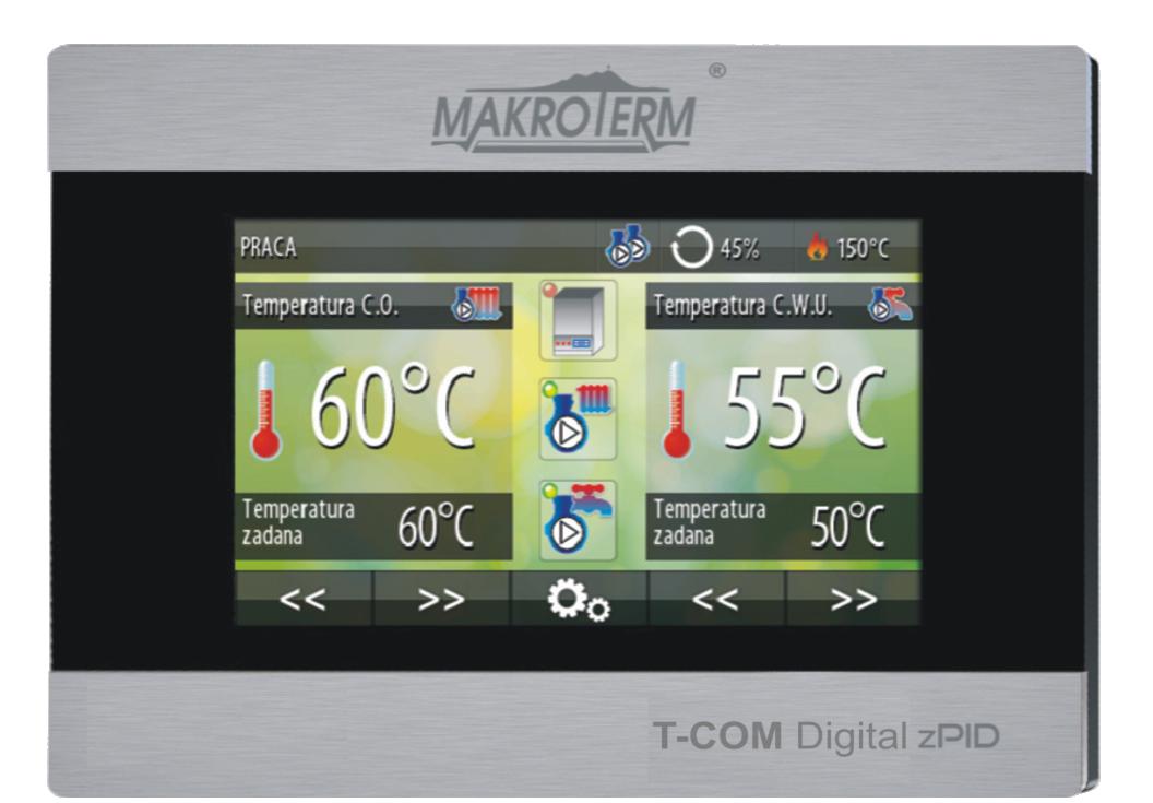 Sterownik T-Com Digital - przykładowy widok