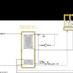System ogrzewania Smart CO: kocioł na paliwo stałe UZ + kolektor słoneczny