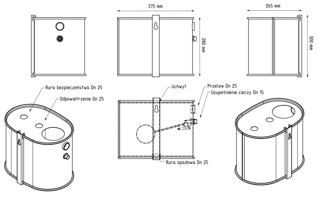 Naczynie wzbiorcze Makroterm - wymiary